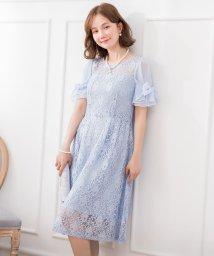 DRESS STAR/2wayシフォンスリーブレースワンピース/502882416