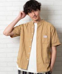 coen/SMITH'S別注バンドカラー半袖シャツ#/502891448