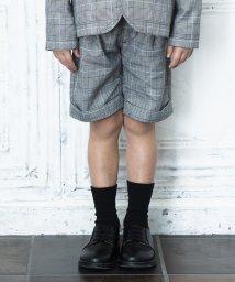 branshes/【キメ服】サージ/チェックハーフパンツ(100~130cm)/502892337