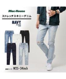MAC HOUSE(men)/Navy ネイビー NAVY JEANS サスティナブル スキニー ブリーチ NJ-S-M001-37/502892841