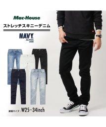 MAC HOUSE(men)/Navy ネイビー NAVY JEANS サスティナブル スキニー ブラック NJ-S-M001-06/502892842