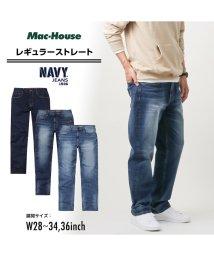 MAC HOUSE(men)/Navy ネイビー NAVY JEANS サスティナブル レギュラー濃色加工 NJ-S-M002-57/502892845