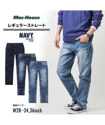 MAC HOUSE(men)/Navy ネイビー NAVY JEANS サスティナブル レギュラー淡色加工 NJ-S-M002-67/502892846