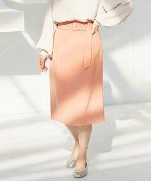 ViS/【EASY CARE】ハイウエストベルト付きタイトスカート/502893024
