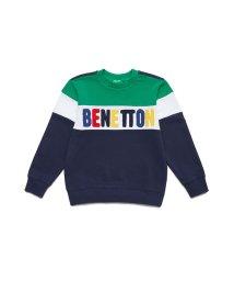 BENETTON (UNITED COLORS OF BENETTON BOYS)/スウェットカラーブロックロゴトップス/502875009