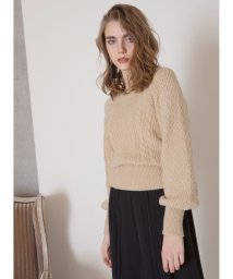 MIELIINVARIANT/Square Cable Puff Knit/502896107