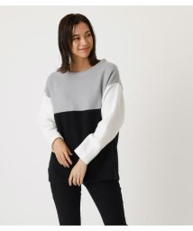 AZUL by moussy/BI-COLOR PANEL TOP/502897813