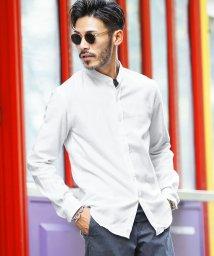 JIGGYS SHOP/長袖無地バンドカラーネルシャツ / 長袖シャツ メンズ カジュアルシャツ ネルシャツ 長袖 シャツ バンドカラー/502899839