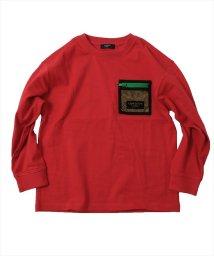 GLAZOS/厚手天竺・ドロップショルダーメッシュポケット長袖Tシャツ/502899884