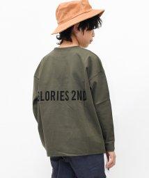 GLORIES LINE/バックロゴ長袖Tシャツ/502900248