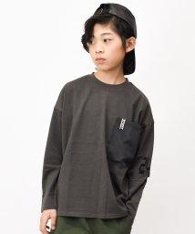 RAT EFFECT/袖ロゴポケット付きビッグ長袖Tシャツ/502900260