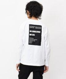 RAT EFFECT/バックボックスロゴビッグ長袖Tシャツ/502900264