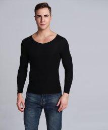 aimoha/切りっぱなし シームレス V型 ロングスリーブ Tシャツ/502885835