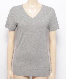 aimoha/シームレス V型 リブ Tシャツ/502885837