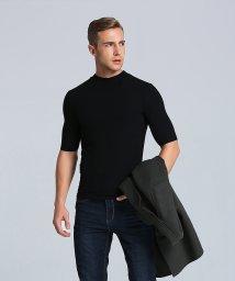aimoha/ハイネック リブ Tシャツ [五分袖]/502885838