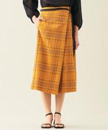 TOMORROWLAND collection/ブライトタータンチェック アシンメトリースカート/502900838