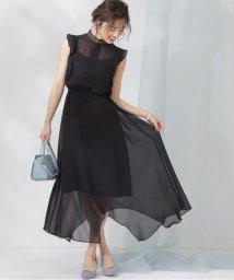 PROPORTION BODY DRESSING/《Lou Lou Fee》フロントレースネックドレス/502901055