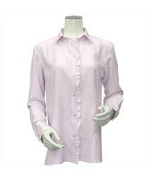 BRICKHOUSE/ウィメンズ 長袖 形態安定 スキッパー衿 ピンク×織柄/502901148