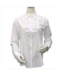 BRICKHOUSE/ウィメンズシャツ 長袖 形態安定 レギュラー衿 白×織柄/502901149