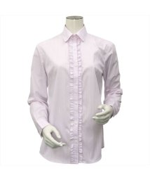BRICKHOUSE/ウィメンズシャツ 長袖 形態安定 ラウンド衿 ストライプ織柄/502901150