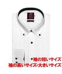 BRICKHOUSE/ワイシャツ長袖形態安定 ボタンダウン綿100% 白系 大きいサイズ/502901197