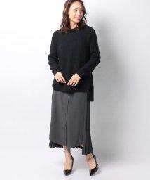 Re.Verofonna/シャツ切替プリーツスカート付柄編みプルオーバー/502887951