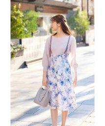 PROPORTION BODY DRESSING/アクワレルフラワージャンパースカート/502895766