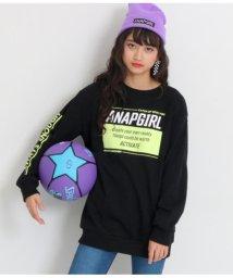 ANAP GiRL/カラーボックスロゴチュニックトップス/502902458