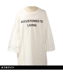 NEXT WALL/「819-00」 レディース柄込みBIG 7分Tシャツ/502906642