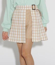 PINK-latte/★ニコラ掲載★ベルト付きラップ風スカート/502906682