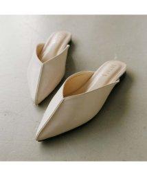 Vivian/ポインテッドトゥセンターステッチデザインVカットスリッパ/502907613