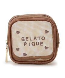 gelato pique/メッシュスクエアポーチ/502907996