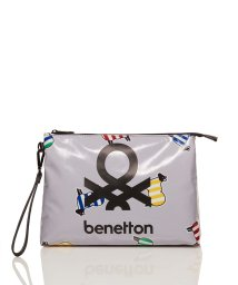 BENETTON (women)/PVCコーティングマキシロゴポーチ/502892088
