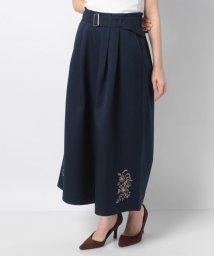 axes femme/裾刺繍ワイドパンツ/502898922