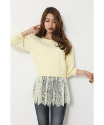 rienda/Lace peplum Knit TOP/502908332