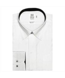 BRICKHOUSE/ワイシャツ長袖形態安定 スナップダウン綿100% 白系 スリム/502908557