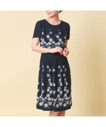 Rose Tiara(L SIZE)/フラワー刺繍フィット&フレアワンピース/502908846