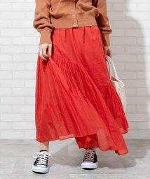 coen/【WEB限定カラー】【7色から選べる】アシンメトリーカラースカート(ロングスカート/マキシスカート)#/502908883