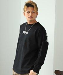 LUXSTYLE/発泡プリントBIGロンT/ロンT メンズ 長袖Tシャツ ビッグシルエット ロゴ プリント/502909191