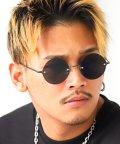 LUXSTYLE/ライトカラーレンズサングラス/サングラス メンズ レディース ラウンド 丸眼鏡 カラーレンズ/502909195