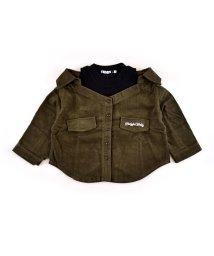 ZIDDY/コールテン肩開きシャツ/502752927