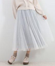 MAJESTIC LEGON/ニュアンスカラーレーススカート/502829607