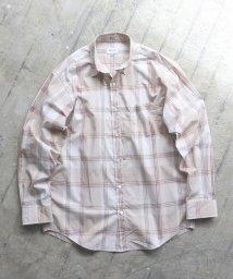 BEAMS MEN/BEAMS / ビッグ チェック ミニレギュラーカラー シャツ/502839034