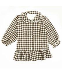 iosonomao moderate/裏フリース裾切り替えチェックシャツ/502901348