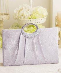 DRESS STAR/【結婚式・お呼ばれに使えるパーティーバッグ】フラワーレースプリーツパーティーハンドバッグ/502907835