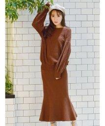 MIIA/【セットアップ対応商品】マーメイドニットスカート/502913026