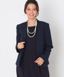 Couture Brooch/【ママスーツ/入学式 スーツ/卒業式 スーツ】キーネックジャケット/502913070