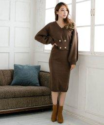 Julia Boutique/ダブルボタンデザインニットセットアップ・スカート/510458/502913918