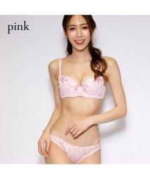 PINK PINK PINK/プリペアード刺繍ブラ&ショーツセット/502914630