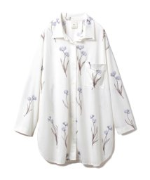 gelato pique/クリアフラワーシャツドレス/502915232